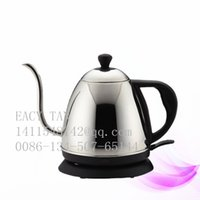 Wholesale 1 L small electric kettle Staniless steel tea pot Electric coffee pot with long spout base on UL Standard SJT plug