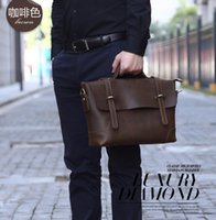 Wholesale Mixed batch of head layer cowhide leather men s bags crazy horse leather handbag briefcase man messenger bag
