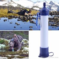 Wholesale 2016 Hot Personal Survival Water Filter Portable Waterstraw Outdoor Water Purifier for Emergency Earthquake camping Hiking