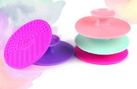 Wholesale The New Silicone Cosmetic Brush Cleaning Rinsing Pad makeup brushes Cleaner Multi Colors Mini round Silicone sucker makeup brush
