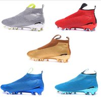 ace high leather - New No Lace Ace16 men soccer shoes high tops pure control soccer boots ACE sports shoes boy outdoor football boots SIZE