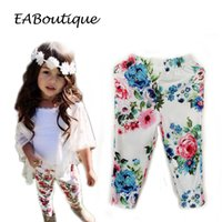 Wholesale 2016 New Fashion Kids Floral printed soft cotton legging for girls years old