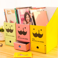 Wholesale Korean version of the DIY desktop stationery paper box DIY lovely desk size creative magazine box