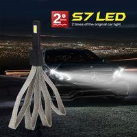Wholesale Car LED light W K LM V V S7 H1 LED Headlight Bulbs Headlamp Conversion Kit IP68 Waterproof CP7549