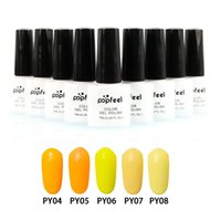 Wholesale Nail Gel Popfeel Colors Orange Series Lasting LED UV Gel Manicure Nail Polish Y