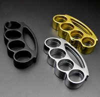 Wholesale HOT black silver and gold Self defense STEEL BRASS KNUCKLES KNUCKLE DUSTER Alloy