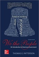 Wholesale We The People An Introduction to American Governmen th Edition by Thomas E Patterson Author ISBN Color pages