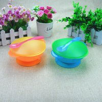 Wholesale Maternal And Kids Supplies Baby bowls with sucker For Preventing the baby from scald