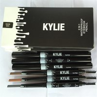 Wholesale Kylie Eye Brow Waterproof Pencil Double ended with Brush in Eyebrow Pencil KYLIE Jenner Color VS Kylie Jenner Matte Lipstick