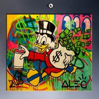 amazing hand painting - Amazing High Quality genuine Hand Painted Wall Decor Alec monopoly Graffiti Pop Art Oil Painting On Canvas Alec Monopoly