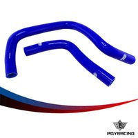 Precio de Silicio w-PQY RACING-2PC de silicona del manguito del radiador, kit de la manguera del silicón W / logo para Honda Civic Type R DC2 EK4 / 9 DOHC B16A / B B18C PQY-LX1304-BL