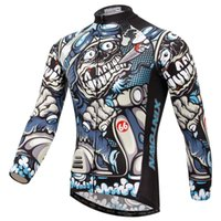 Wholesale 2016 Mens Fashion Pattern Cycling Jerseys Breathable Anti sweat Winter Clothing Long Sleeve MTB Road Bike Bicycle Jerseys Jacket