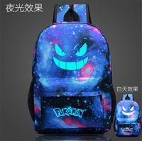 Wholesale New poke mon bags glowing backpacks fashion street cool school bag unisex travel bag bistar top brand bag printing backpack