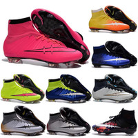 Wholesale 2016 new Mercurial Superfly FG Soccer Shoes Boots CR7 Cleats Football Sneakers Eur Size