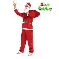 adult movie cover - Christmas products Santa Claus clothes prop non woven adult costumes Christmas clothing covered set