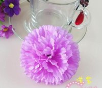 Wedding artificial jewelry - 9cm colors available Artificial Silk Carnation Flower Heads Mother s Day DIY Jewelry Findings headware