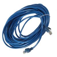 Wholesale 50FT M RJ45 CAT5 CAT5E Ethernet Network Lan Router Patch Cable Cord Blue M Brand New
