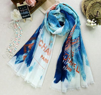Wholesale fashion gift new Designers letter Graffiti printing women s cotton Scarves Wraps shawl Air conditioning towel Beach towel