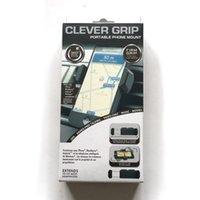 Wholesale 2016 Bell Howell Clever Grip MAX Portable Phone Mount for most Smartphones Car Holder for Smart Phones DHL Free