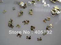 Wholesale MS Metal Gold Nail Art Metal Sticker Nail Art Decoration Fancy Outlooking stickers bubble