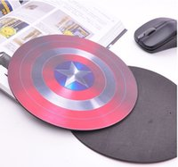 Wholesale 100pcs America Captain Frosted Mouse Pad Round PVC Mouse Cup Mat Insulation Cup Mat