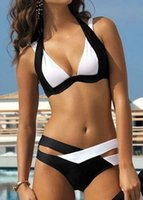 best quality pencils - 2016 Summer Sexy Patchwork Bikini Woman Swimsuit Bandage Swimwear Best Soft Swimsuits Bathing Suit Black And White hight quality