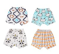 Cheap 20 Design INS Kids PP pants baby toddlers ins animal fox panda wheels Wolf geometric lemon fruit pants shorts Leggings children clothes