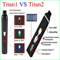 Wholesale Titan Dry Herb Vaporizer Titan1 Hebe Kit With LCD Display Of Tempreture And Hebe mah Battery E Cigarette in stock