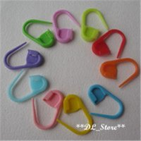 Wholesale 100Pcs High quality plastic pin knitting stitch holder Multicolour marker pins for hand knitting crocheting work