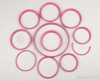 Wholesale Brand New ABS Plastic UV Protected Interior Rings Mini Ray Style Pure Red Color For mini cooper F56 Set