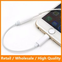 Wholesale For iPhone to mm Headphone Jack Adapter For iPhone Plus Earphone Connector Adapter Cable mm to Lighting Converter
