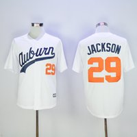 auburn tigers jerseys - 2016 New Auburn Tigers Throwback VINTAGE Baseball Jersey Bo Jackson Auburn White Tigers University Jerseys Size M XXXL Embroidery Logo