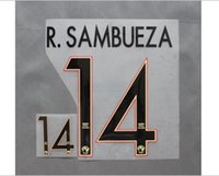 Wholesale 2016 Club de Futbol América Home AWAY Custom soccer Nameset font R SAMBUEZA Aguilar nameset font