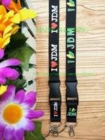 automobile chains - men s automobile car I love JDM KEY Chain Lanyard neck lanyards Cell Phone Straps Charms ID Holder