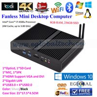 Wholesale Eglobal Fanless Mini PC Windows TV Box HTPC Intel Core I7 U G RAM G SSD Gigabit LAN HDMI WiFi Nettop Micro Computer PC