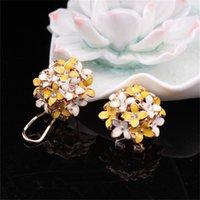 anti allergy - Women Lady Elengan Clover Flower Anti Allergy Earring Stud Fashion Statement Earrings Party Jewelry Earrings Valentine Gift