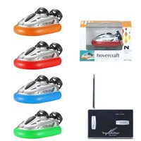 Wholesale Cool MHz Radio Control High Speed Series RC Hovercraft Boat Ship Model Kids Toy Gift Assorted Color
