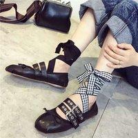 belt buckles punks - New Europen Style Punk Flat Fashion Shoe Colors With Belt Lady Fashion PU Lovely Shoe Size EX9032