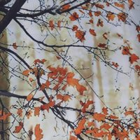 Wholesale Maple Leaf Trees Pattern Bathroom Waterproof Polyester Fabric Shower Curtain quot