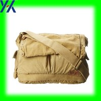 bag maker manufacturers - KHAKI CANVAS OEM MANUFACTURER BAG MAKER SINGLE SHOULDER SLING BAG