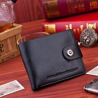 Wholesale Luxury Brand Wallet Men s Leather Wallets Black Short Design Small Wallet Purse Men for Money