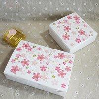 baking chocolate cookies - Pink Sakura Stamping Gift Box for Cookie Packaging for Macaron Chocolate Baking Food