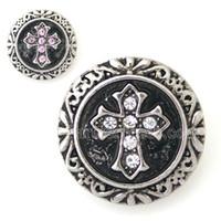 Wholesale Interchangeable Accessory Single Molding Ginger Cross Snap mm Fit Button Snaps Bracelet Jewelry KB8775