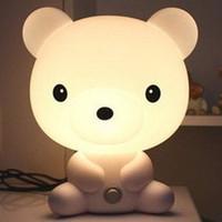 bear area rugs - Indoor Lighting Table Lamps New Baby Room Bear Cartoon Night Sleeping Light Lamp lamp frame light purple area rug