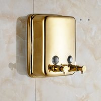 Wholesale Luxury Wall Mounted Golden Bathroom Liquid Soap Dispenser ml