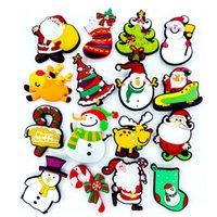 Wholesale Mix Sales PVC Christmas Style Fridge Magnet Christmas Souvenir Refrigerator Magnetic Sticker For Home Decoration Fridge Decals