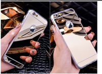 Wholesale for iphone plus NOTE Mirror case Electroplating Chrome Ultrathin Soft TPU Phone Case Cover For Samsung Galaxy S6 S7 iphone plus