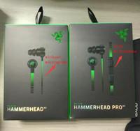 achat en gros de casque v2-Razer Hammerhead Pro V2 casque dans l'oreille casque avec microphone avec la vente au détail Casque intra-auriculaire casque Bruit isolation stéréo basse 3.5mm