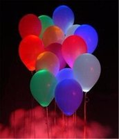 Wholesale LED Weeding Birthday Party Balloons Wedding Light Mixed Colors Decoration Christmas