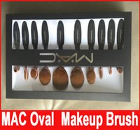 Wholesale New Professional Soft Oval Toothbrush Makeup Brush Sets Foundation Brushes Cream Contour Powder Blush Lip Concealer Brush set